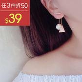 耳環 幾何 珠珠 後掛式 鑲鑽 耳環【DD1606077】 BOBI  04/20