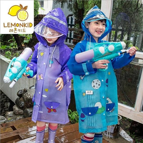 韓國lemoinkid 亮彩卡通EVA兒童雨衣 立體書包位雨衣 安全反光 3色 S-L碼【K95001】