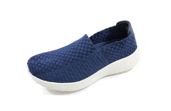 [陽光樂活]SKECHERS(男)時尚休閒系列BURST-REVIVAL 爆裂紋x編織鞋 -999697NVY 深藍
