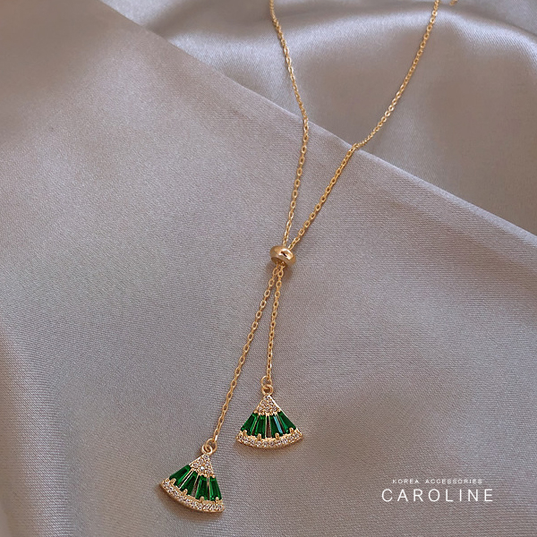 《Caroline》高貴典雅設計流行時尚韓系設計水鑽項鍊72067