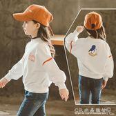 童裝女童春秋裝長袖t恤兒童純棉秋季上衣中大童韓版衛衣『水晶鞋坊』