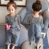 2020春裝嬰兒童褲女童寶寶長褲牛仔吊帶褲小童牛仔褲子春秋1-3歲4
