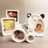 卡通創意掛墻兒童相框擺台7寸5 8六寸七寸寶寶相片框組合照片相架【中秋節好康搶購】