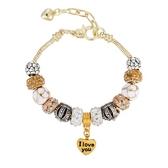 串珠手環-閃耀動人鑲鑽飾品歐美時尚女配件73kc200【時尚巴黎】