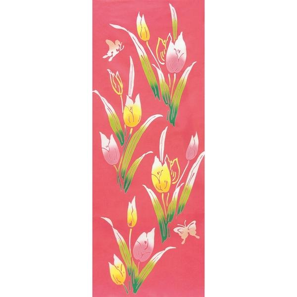 【日本製】【和布華】 日本製 注染拭手巾 鬱金香圖案(一組:3個) SD-4969-3 - 和布華