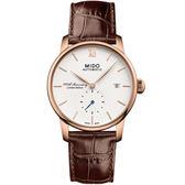 【僾瑪精品】MIDO 美度 BARONCELLI 永恆系列 II 百年限量機械錶-咖啡x白/M86083268