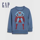 Gap男幼童 Gap x DC正義聯盟系列超人休閒休閒上衣 617846-霧藍色