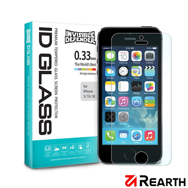 Rearth Apple iPhone 5S/SE (0.33mm)強化玻璃螢幕保護貼