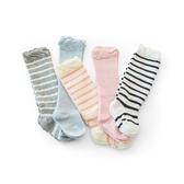 寶寶嬰兒襪子秋冬季純棉兒童長筒新生兒女童男童加厚過膝地板襪子