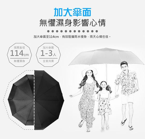 【黑膠抗UV 反向傘 摺疊自動傘】耐風級十骨架 反向傘 雨傘 自動傘 摺疊傘 雙人傘