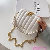 貝殼包今年流行小包包2021新款時尚斜背包女夏珍珠手提包通勤百搭貝殼包 JUST M