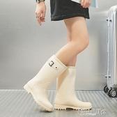 雨靴 雨鞋女高筒韓國可愛時尚款外穿雨靴長筒水鞋防水防滑水靴成人套鞋