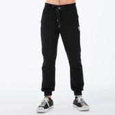 Big Train黑色街頭鬆緊腰針織縮口褲-男-深藍-S.M.L.XL