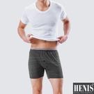HENIS 1件組時尚型男彩紋針織平口褲 隨機取色HS719