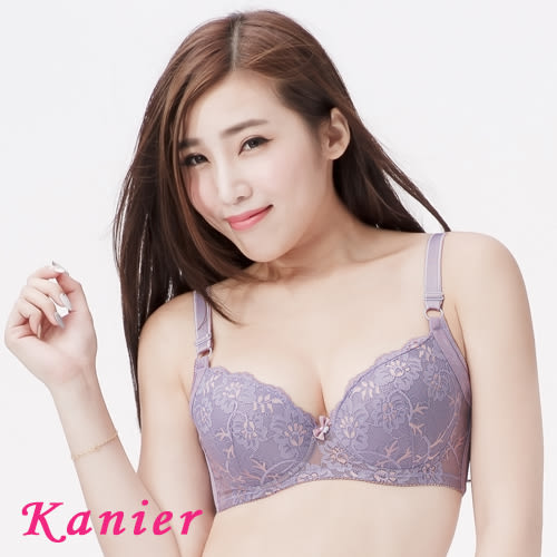 【Kanier卡妮兒】蕾絲集中美背海棉罩杯調整型內衣(戀紫_BC_2801)