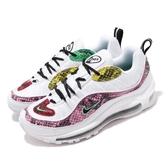 【海外限定】Nike 休閒鞋 Wmns Air Max 98 PRM Snakeskin 白 粉 女鞋 蛇紋 運動鞋 【PUMP306】 BV1978-100