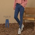 限量現貨◆PUFII-牛仔褲 三釦高腰彈性車線牛仔窄管褲-1020 現+預 秋【CP19306】