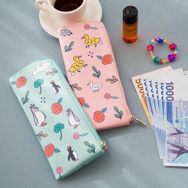 筆袋-可愛小收納袋/餐具袋/鉛筆盒-共4色-B280099-FUFU