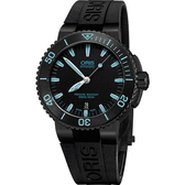 ORIS 豪利時 Aquis 時間之海中型潛水錶-藍時標x黑/43mm 0173376534725-0742634BEB