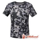 【wildland 荒野】男 彈性抗UV迷彩短袖功能衣『深灰』0A61650  抗紫外線 吸濕 排汗 印花 迷彩