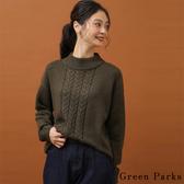 ❖ Winter ❖ 溫暖圓領素面麻花辮針織上衣 - Green Parks