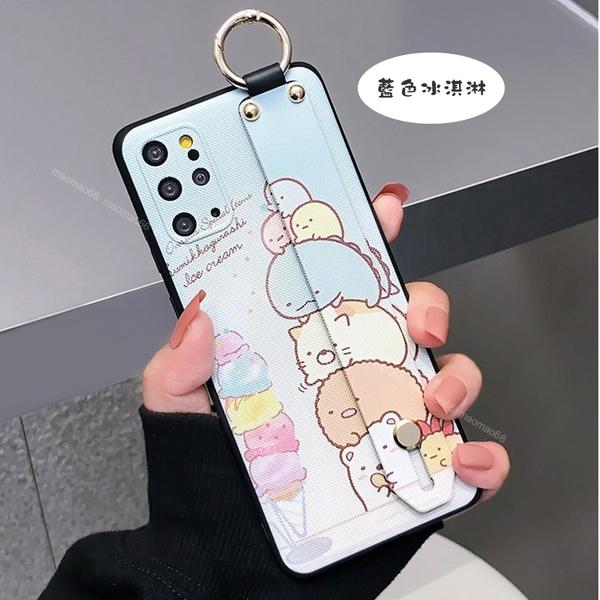 三星 Note 20 Ultra Note8 Note9 日韓腕帶殼 iG 卡通 角落生物 可愛動物 手機殼 影片支架 保護套