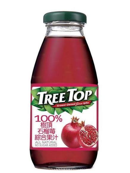 樹頂100%石榴莓綜合果汁玻璃罐300ml*2罐 【合迷雅好物超級商城】