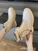 馬丁靴女靴秋季新款高幫潮鞋平底帥氣馬丁靴女英倫風網紅瘦瘦靴新品 全館免運