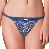 思薇爾-慕夏星空系列M-XL蕾絲低腰丁字褲(皇室藍)