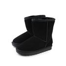 雪靴 靴子 戶外休閒鞋 黑色 大童 no045
