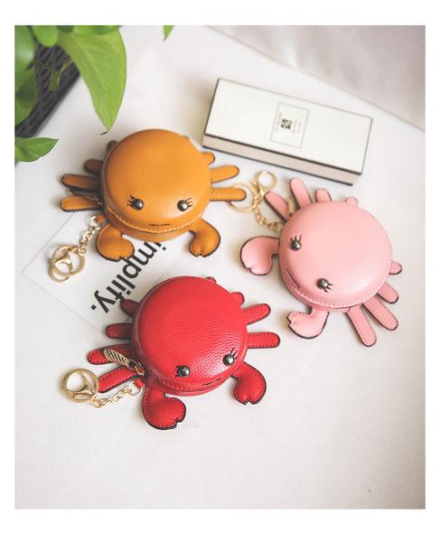*UOU精品*可愛卡通小螃蟹時尚包包吊飾鑰匙扣。3色【T147】