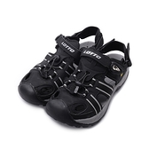 LOTTO 護趾束帶磁釦水陸鞋 黑 LT1AMS3160 男鞋