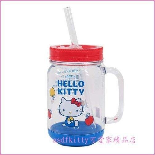 asdfkitty可愛家☆賠錢出清特價KITTY 梅森瓶/梅森杯.有封口片-可當保鮮罐-500ML-日本製