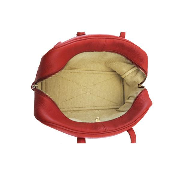 【HERMÈS 】莓紅色 TOGO皮 O年 Victoria 35cm 維多利亞 HE11000023