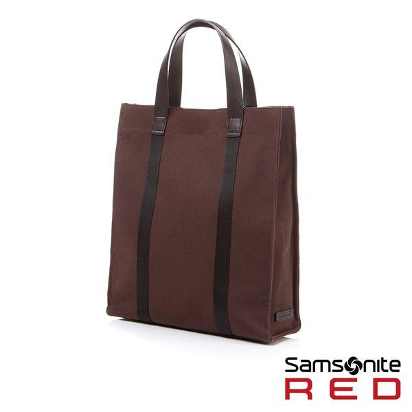 """Samsonite RED DANSEY 筆電夾層簡約托特包15.6""""(咖啡)"""