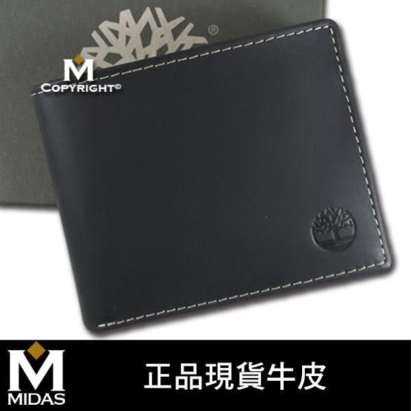 Timberland 男皮夾【美國進口現貨】原廠正品 柔韌牛皮 短夾 經典品牌盒裝/黑色