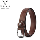 【橘子包包館】VOVA 真皮 品味紳士雙車線復古休閒皮帶 穿針式皮帶/穿孔式皮帶 VA007-003