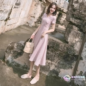 氣質 洋裝法式復古長裙山本過膝很仙的法國小眾子超仙女甜美森系夏季【星時代生活館】