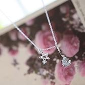項鍊 925純銀鑲鑽吊墜-耀眼星月生日情人節禮物女飾品73gj44【時尚巴黎】