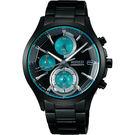 WIRED 東京潮流炫彩計時手錶-湖水綠x黑/40mm VR33-0AA0G(AY8010X1)