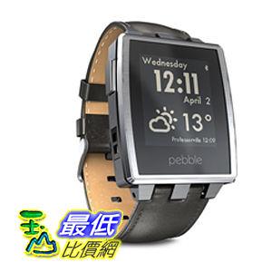 [104美國直購] Pebble Steel B00KVHEL8E 智能手錶 for iPhone and Android Devices (Brushed Stainless) $10897
