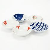 日本 染錦5件深盤組 Saikaitoki 西海陶器 波佐見焼