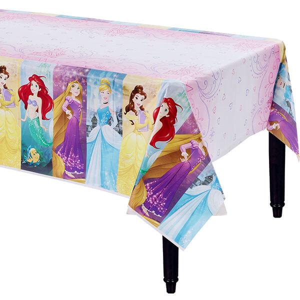 迪士尼 餐具 塑膠桌巾-迪士尼公主