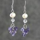 紫水晶流蘇耳環