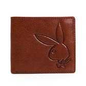 PLAYBOY - 基本短夾 Mr. Rabbit系列 - 咖色
