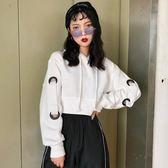 帽T 連帽長袖短款酷衛衣女潮秋季韓版原宿風百搭外套