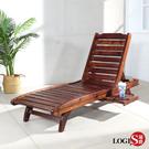 LOGIS 野居實木三段式戶外休閒躺椅 戶外躺椅 【FFD1】