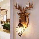 壁燈 招財鹿角北歐式客廳電視機背景墻別墅床頭個性創意鹿頭墻 - 古梵希