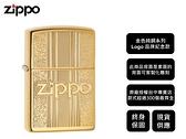 【寧寧精品】Zippo 原廠授權台中30年旗艦店 終身保固 打火機 亮面金色純銅紀念款 背面可雕刻 4488-1