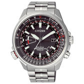 CITIZEN Eco-Drive 浮華爵士鈦金屬光動能腕錶-銀